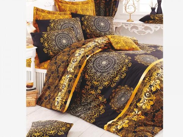 Ottoman 100% Baumwolle Doppelbettbezug Set Gelb   Beste Klasse