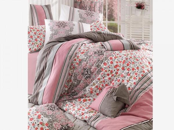 İpek 100% Baumwolle Doppelbettbezug Set Pink | Beste Klasse