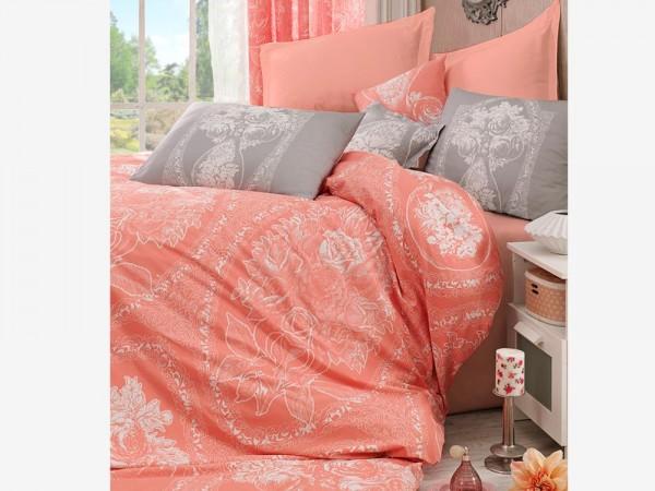 Frau Lili 100% Baumwolle Doppelbettbezug Set Orange | Beste Klasse