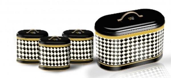 Vip Ahmet Damalı Metal Oval Bread Set 4 Pieces | VIPAHMET-VP-240