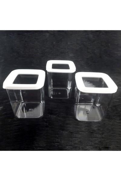 Vip Ahmet Square Lagerbehälter 3x700 ML   VIPAHMET-VP-186
