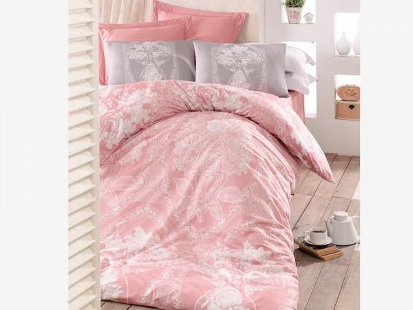 Frau Lili 100% Baumwolle Doppelbettbezug Set Pink | Beste Klasse