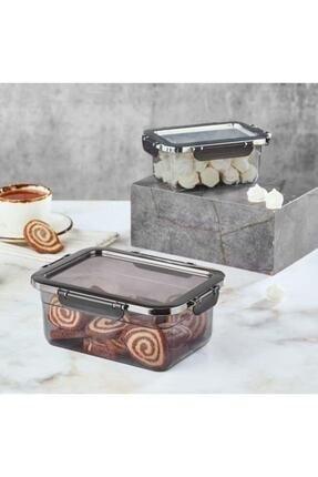 Vip Ahmet Smoked Luxury Locked Storage Box 1 lt + 2.20 lt | VIPAHMET-VP-313