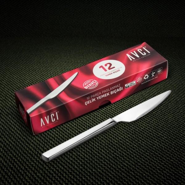 Klas 12 Stück Abendessen Messer